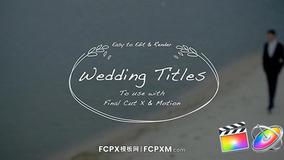 FCPX模板 浪漫婚礼视频手绘动态标题fcpx模板下载