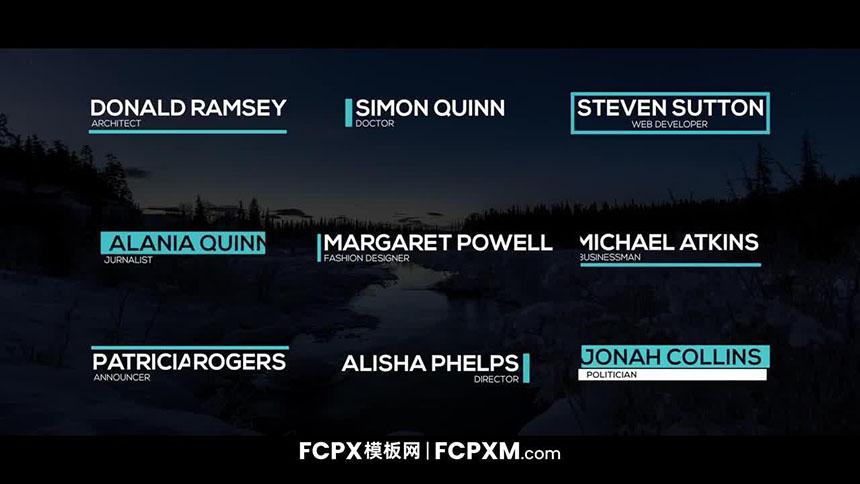 FCPX模板 创意下三分之二小标题fcpx模板下载-FCPX模板网