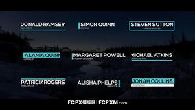 FCPX模板 创意下三分之二小标题fcpx模板下载