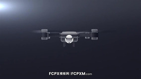 FCPX模板 无人机飞行企业工作室logo展示fcpx模板下载
