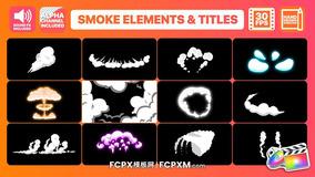 FCPX模板 手绘卡通漫画烟雾元素fcpx模板下载