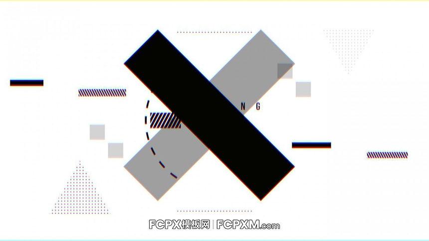FCPX开场视频模板 炫酷黑白故障效果动态logo展示fcpx模板下载-FCPX模板网