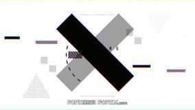 FCPX开场视频模板 炫酷黑白故障效果动态logo展示fcpx模板下载