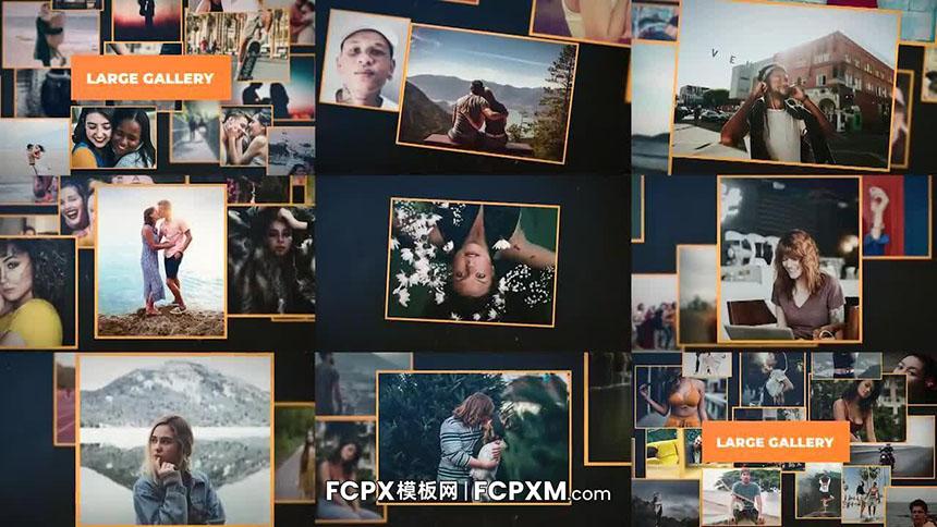 FCPX电子相册模板 快速大型画廊动态照片展示fcpx模板下载-FCPX模板网