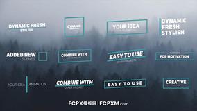FCPX动态标题模板 创意图形线条动态全屏标题fcpx模板下载