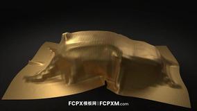 FCPX开场视频模板 布料覆盖汽车动态logo展示fcpx模板免费下载