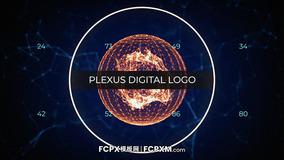 FCPX模板 科技感数字神经丛效果logo展示fcpx模板下载