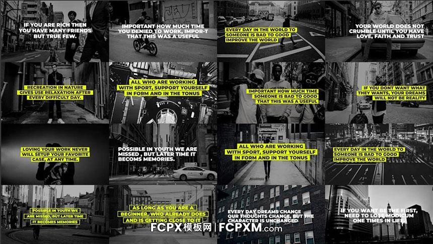 免费FCPX模板 全屏半屏动态文字展示fcpx字幕模板-FCPX模板网