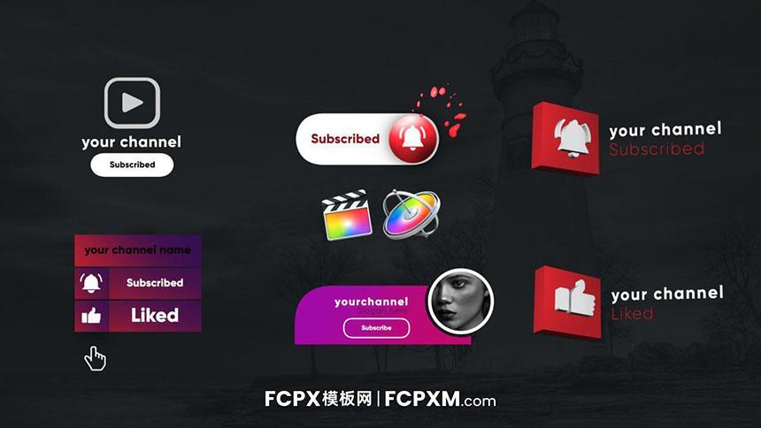FCPX模板 Youtube油管订阅关注fcpx模板免费下载-FCPX模板网