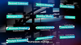 FCPX模板 时尚创意动态标题fcpx字幕条模板下载