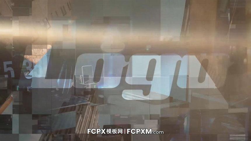 FCPX模板 数码风格照片快速汇聚logo展示fcpx片头模板-FCPX模板网