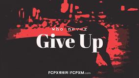 """FCPX模板 """"红与黑""""激情酷炫体育运动锻炼视频fcpx模板"""