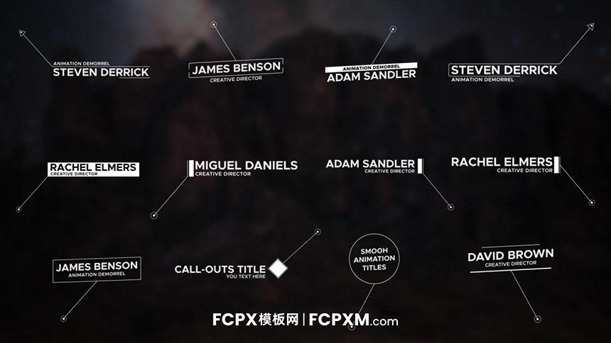 FCPX模板 动态线条呼出重点注释介绍fcpx模板下载-FCPX模板网