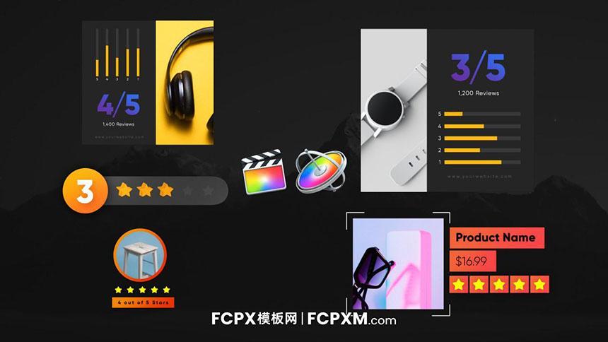 FCPX模板 产品评测打分动态元素视频素材fcpx模板下载-FCPX模板网