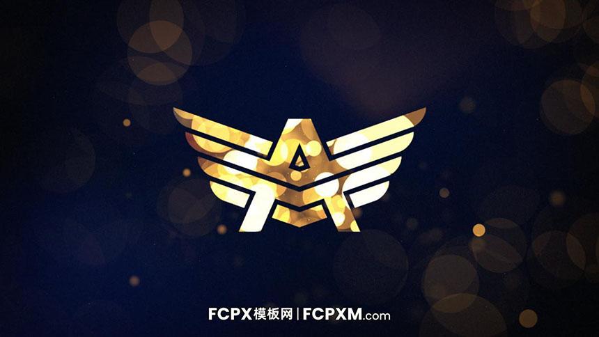 FCPX片头模板 金光闪闪粒子特效片头logo展示fcpx模板-FCPX模板网
