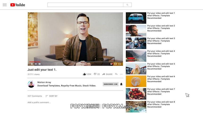 社交媒体FCPX模板 Youtube账号推广宣传片fcpx模板下载-FCPX模板网