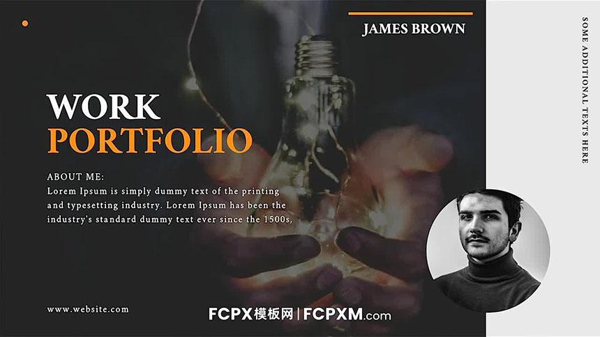 FCPX模板 高端大气个人摄影作品展视频宣传预告fcpx模板下载-FCPX模板网