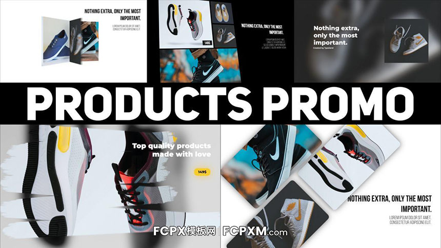 FCPX模板 创意时尚网络广告主图视频产品促销fcpx模板下载-FCPX模板网