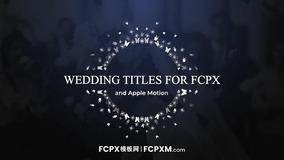 FCPX模板 创意银蝶飞舞动态婚礼全屏标题fcpx模板下载