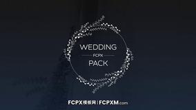 婚礼标题fcpx模板 10个简约花环动态婚礼标题FCPX模板下载