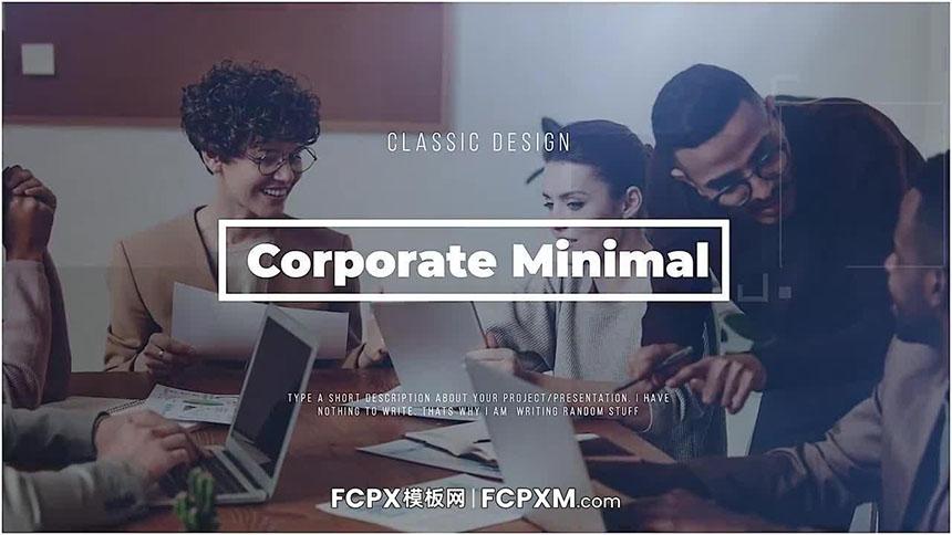幻灯片FCPX模板 企业会员公司宣传片图文展示fcpx模板下载-FCPX模板网