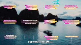 FCPX标题模板 社交媒体创意渐变色彩动画标题fcpx模板下载