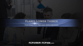 FCPX字幕模板 正式大气耀斑效果文字动画fcpx模板下载