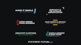 FCPX标题模板 简约多彩线条图形文字动画fcpx模板下载