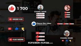 FCPX模板 Youtube订阅提醒元素fcpx短视频模板下载