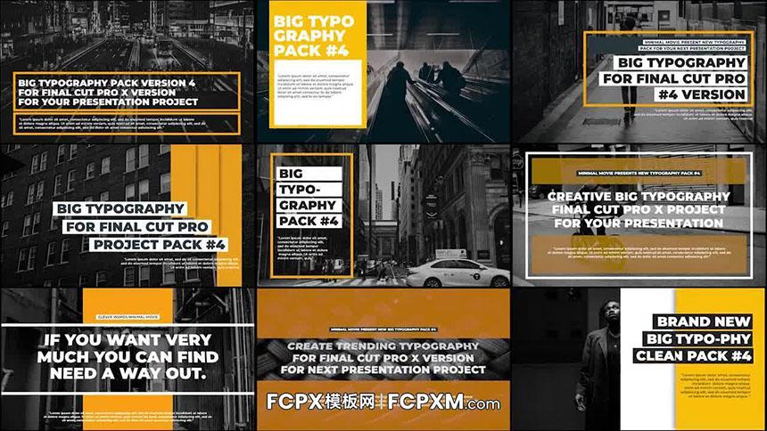 FCPX标题模板 复古创意动态排版全屏大标题fcpx模板下载-FCPX模板网