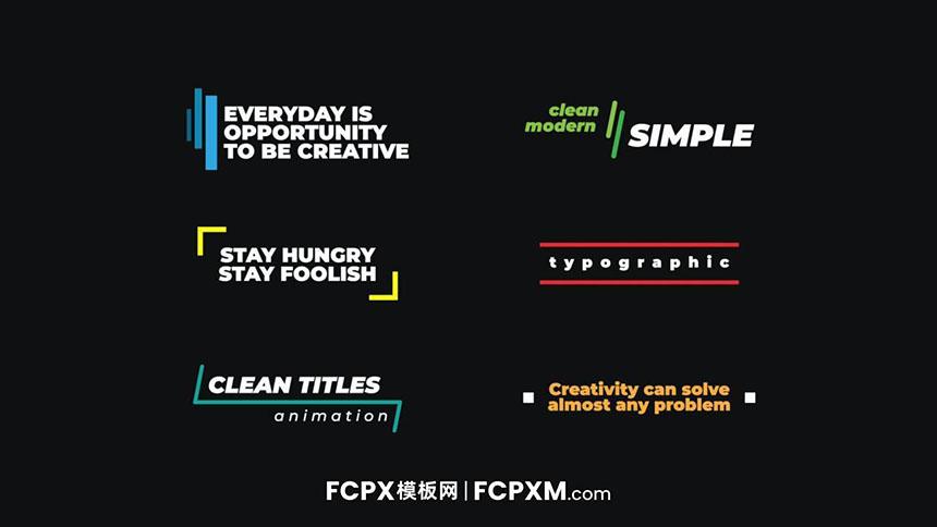 FCPX彩色标题模板 简约活泼个人短视频vlog创意标题fcpx模板下载-FCPX模板网