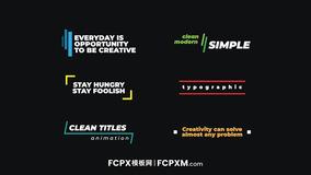 FCPX彩色标题模板 简约活泼个人短视频vlog创意标题fcpx模板下载