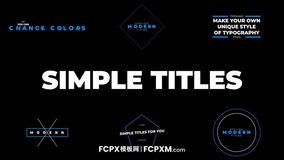 免费FCPX标题模板 实用简单蓝色线条几何动态标题fcpx模板下载