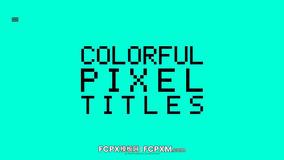 FCPX标题模板 9个创意时尚彩色像素动态标题fcpx模板下载