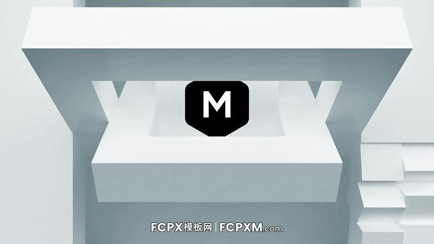 免费FCPX模板 简约立方体动态logo展示FCPX片头模板下载-FCPX模板网