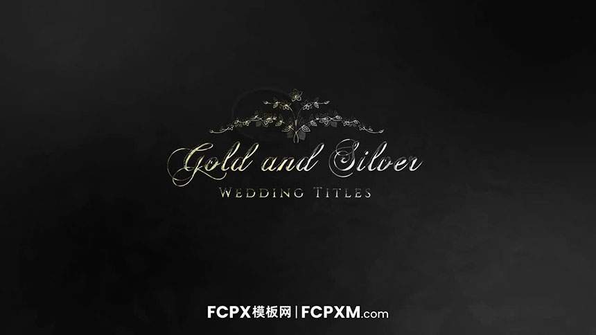 电影级FCPX标题模板 金银色奢华标题文字FCPX模板下载-FCPX模板网