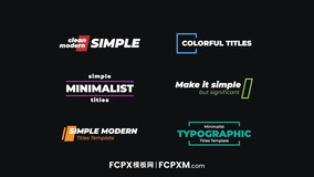 FCPX字幕模板 实用创意彩色动态全屏大标题FCPX模板下载