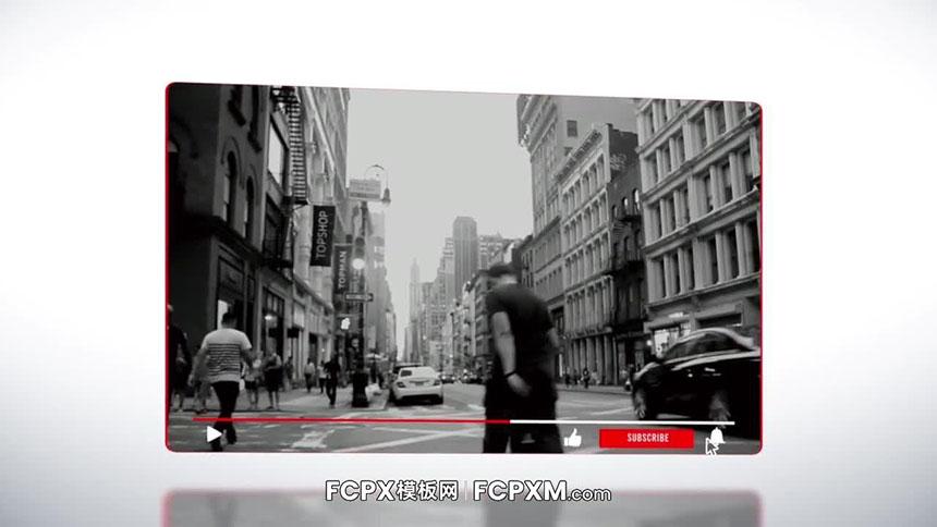 FCPX模板 油管Youtube作品宣传视频片头FCPX模板下载-FCPX模板网
