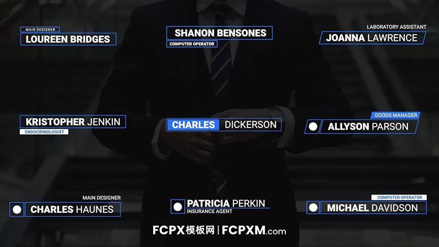 FCPX标题字幕模板 现代简约商务全屏标题视频模板下载-FCPX模板网