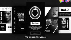 FCPX模板 INS时尚黑白效果短视频模板下载