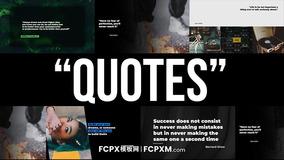 FCPX模板 简约创意引用语句历史节目视频模板下载
