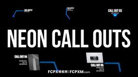 FCPX标题字幕模板 动态线条呼出注释备注字幕模板下载