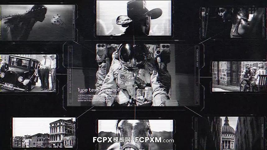 FCPX模板 炫酷高科技黑白侦探档案节目视频模板下载-FCPX模板网