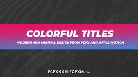FCPX标题字幕模板 时尚渐变新闻短视频动态全屏标题模板下载