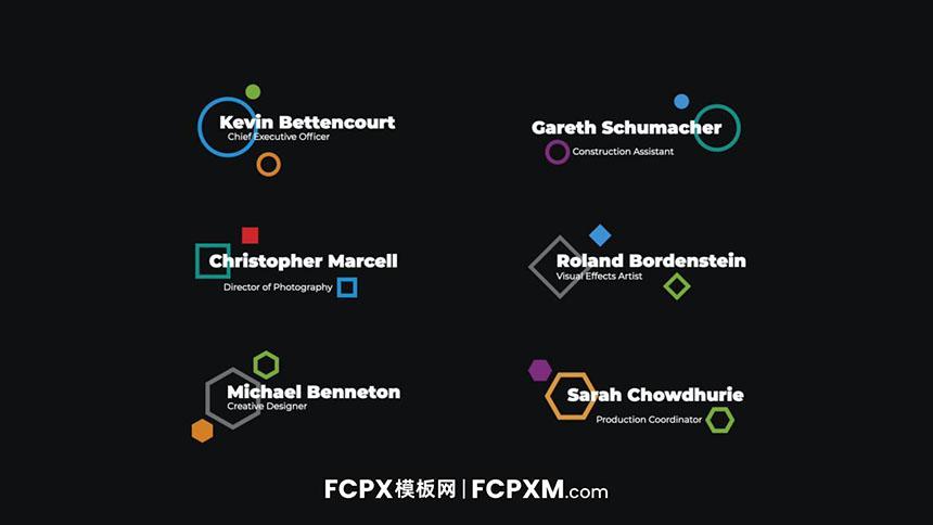 FCPX模板 创意几何图形动态多行全屏标题视频模板下载-FCPX模板网