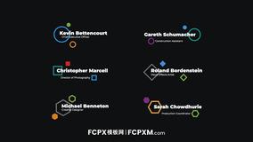 FCPX模板 创意几何图形动态多行全屏标题视频模板下载