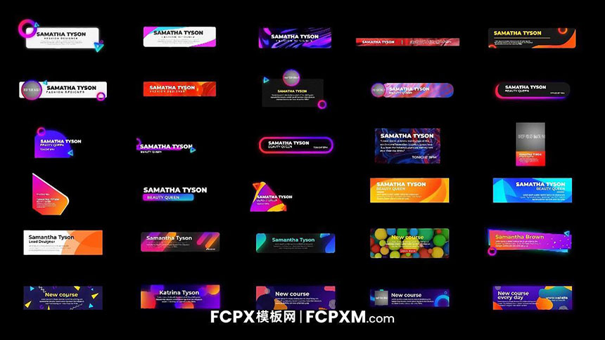 FCPX模板 多彩创意渐变短视频社交媒体标题字幕模板下载-FCPX模板网