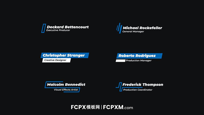 FCPX标题模板 创意时尚动态图形多行字幕模板下载-FCPX模板网