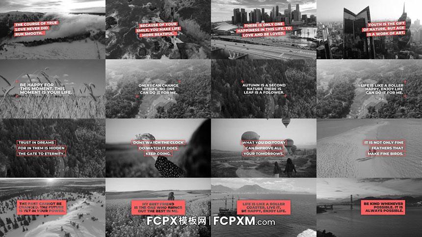 FCPX模板 简约动态标题文字说明介绍fcpx模板下载-FCPX模板网