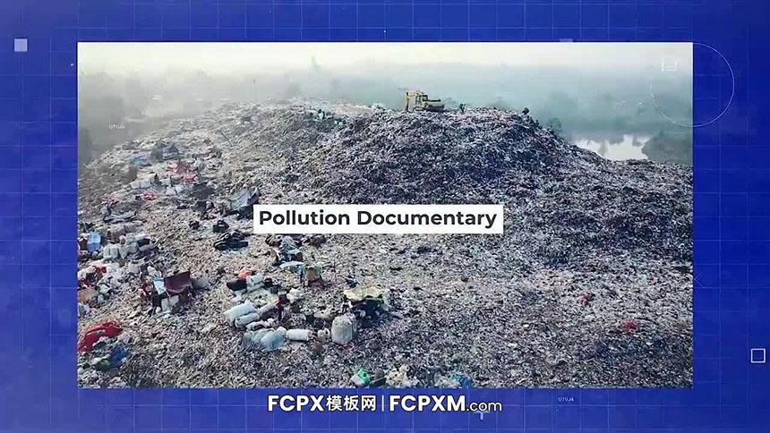fcpx模板 环境污染纪录图片文字介绍展示FCPX模板下载-FCPX模板网